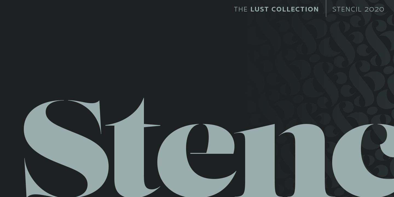 Lust Stencil Cover